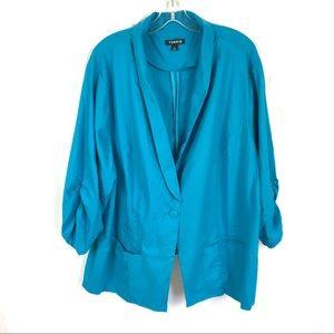 Torrid linen blend one button blazer jacket